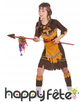 Tenue de petite indienne marron en robe, image 2