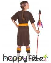 Tenue de petite indienne marron en robe, image 3