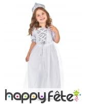 Tenue de petite princesse blanche avec paillettes