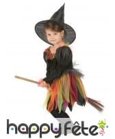 Tenue de petite sorcière avec tulles multicolores, image 1