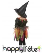 Tenue de petite sorcière avec tulles multicolores, image 2