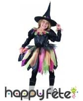 Tenue de petite sorcière avec tulles multicolores, image 3
