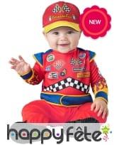 Tenue de pilote de course pour bébé