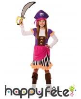 Tenue de pirate rose et violet pour fille, image 1