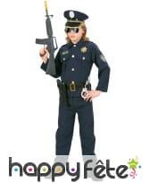 Tenue de policier bleue pour enfant, image 1