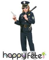 Tenue de policier bleue pour enfant, image 2