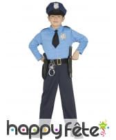 Tenue de policier musclé pour enfant