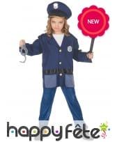 Tenue de policier pour enfant avec accessoires, image 2