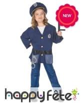 Tenue de policier pour enfant avec accessoires, image 3