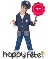 Tenue de policier pour enfant avec accessoires