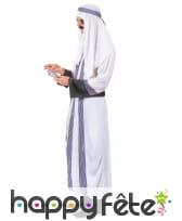 Tenue de prince arabe blanche et violette, image 2