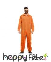 Tenue de prisonnier orange is the new black, homme