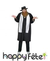 Tenue de rabbin pour adulte