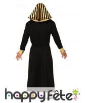 Tenue de roi d'Egypte noire et dorée pour homme, image 1