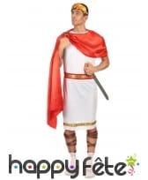 Tenue de romain blanche avec cape rouge, image 1