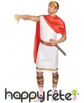 Tenue de romain blanche avec cape rouge, image 2