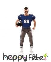 Tenue de rugbyman bleue pour homme