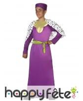 Tunique de roi mage violet pour enfant
