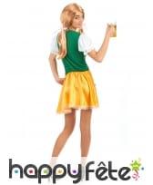 Tenue de serveuse bavaroise verte et jaune, image 2