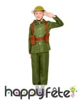 Tenue de soldat 1ere guerre mondiale pour enfant