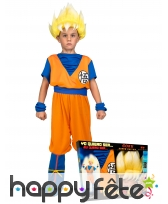 Tenue de Son Goku super guerrier,enfant, coffret