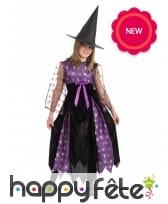 Tenue de sorcière noire et violette pour enfant