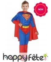 Tenue de Superman musclé pour enfant