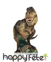 Tyrannosaure en carton plat de 186cm
