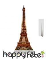 Tour Eiffel en carton plat