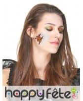 Tatoo et maquillage à paillettes pour Halloween, image 1
