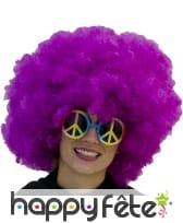 Très grosse perruque afro violette