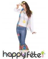 Tenue hippie bleue et colorée pour femme, image 1