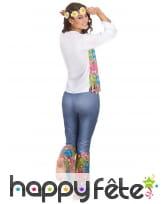 Tenue hippie bleue et colorée pour femme, image 2