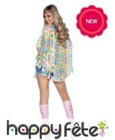 Tunique hippie colorée avec bandeau pour femme, image 1