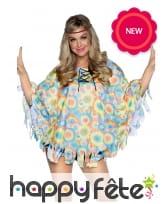 Tunique hippie colorée avec bandeau pour femme