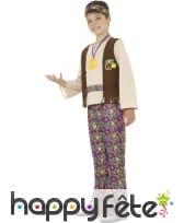 Tenue hippie fleurie pour enfant, image 2