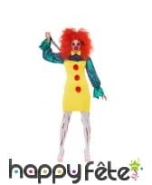 Tenue jaune de clown tueuse