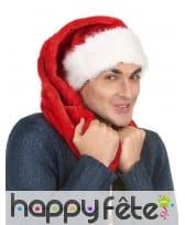 Très long bonnet de Noël rouge effet velours, image 1
