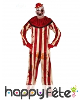 Tenue lignée de clown ensanglanté pour homme
