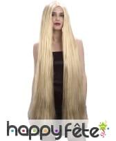 Très longue perruque blonde lisse, image 1