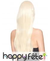 Très longue perruque blonde lisse, luxe, image 1
