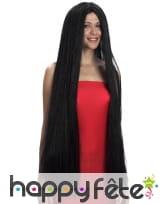 Très longue perruque noire lisse, image 1