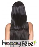 Très longue perruque noire lisse, luxe, image 1