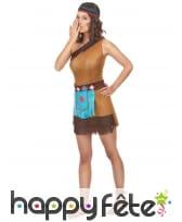 Tenue marron courte de femme indienne, image 1