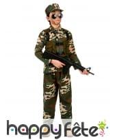 Tenue militaire camouflage pour enfant