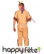 Tenue marron d'indien pour homme adulte, image 3