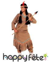 Tenue marron d'indienne pour femme adulte, image 1