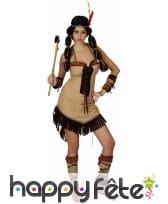 Tenue marron d'indienne, robe courte