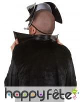 Tricorne masque dr peste noir liserts argentés, image 1