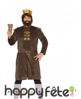 Tenue marron effet velours de roi médiéval